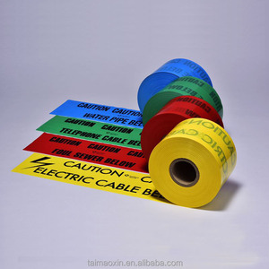Polyethylene Non Adhesive Utility Marking Tapes Underground Detectable Warning And Barricade Tapes For Pipes and Cables