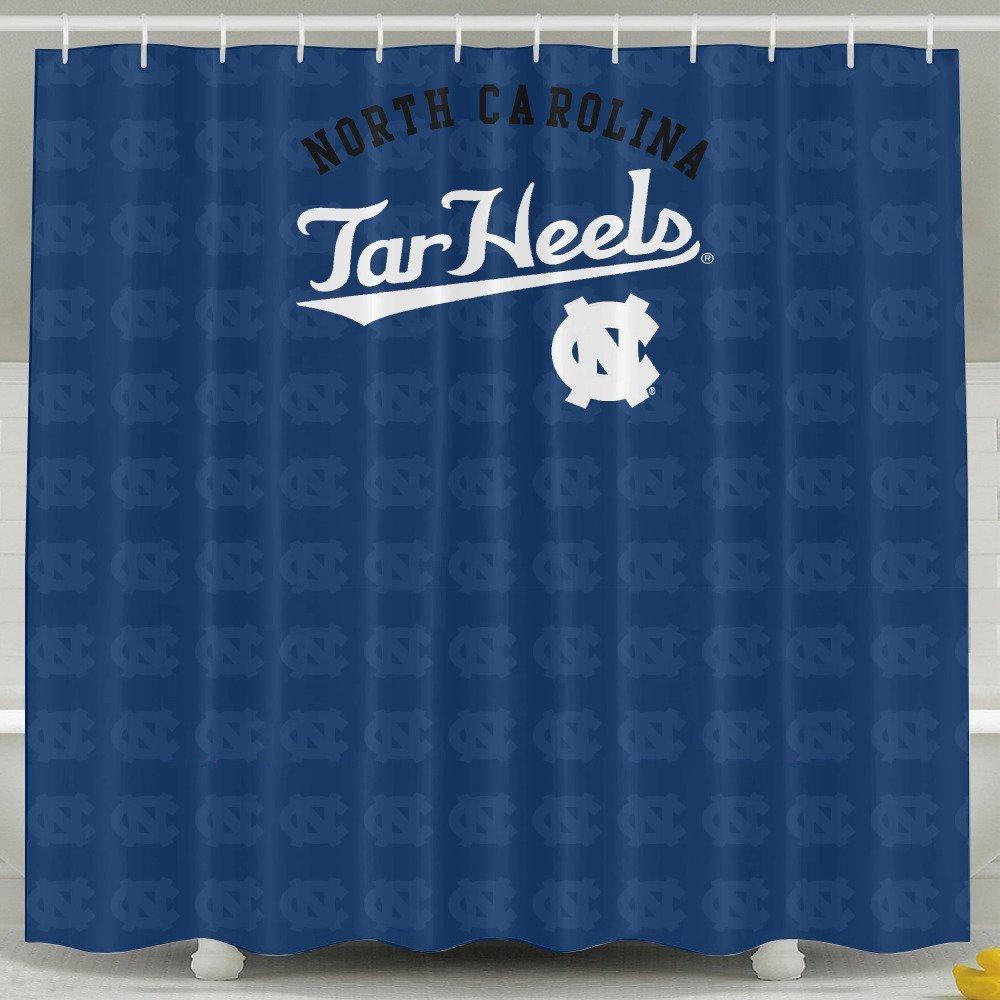 IWKULAD Ncaa North Carolina Tar Heels UNC Teams Logo Customized Shower Curtains