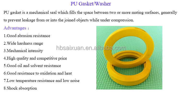 Heat Resistant Rubber Washer/ Silicone Rubber Gasket/ Pu Shim Washer ...