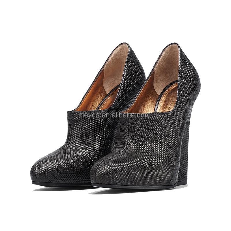 shoes new ladies luxury skin high Heyco heels lizard quality black dress women 1zwaOqPF