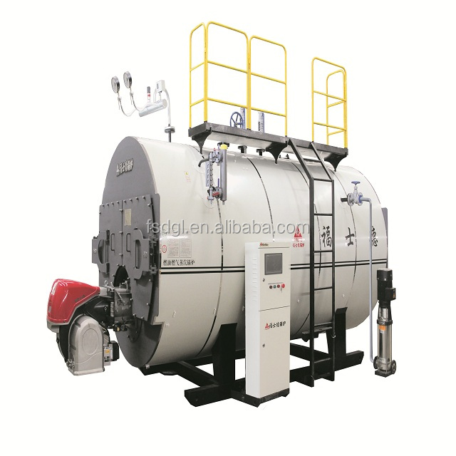 LPG steam boiler machine with fuel burner
