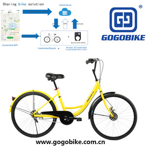Tianjin Manufacture 24 inch aluminum alloy frame single speed airless tube bike share system