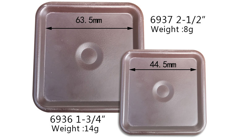 Square furniture metal quare furniture caster cup wholesale, Slip-pad