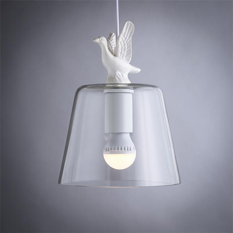 Fonkelnieuw Modern Design Pigeon House Decorative Pendant Light / Transparent ND-42