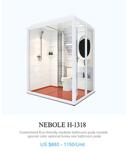 Chinese prefab bathroom factory supply great quality modular bathroom with shower and toilet in one unit