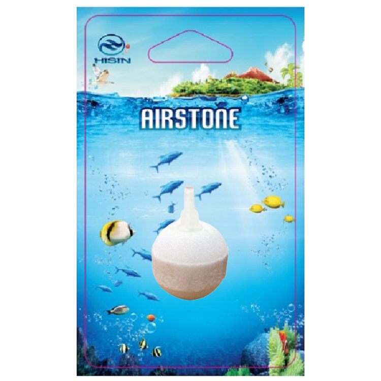 HiSin/HaiXin WS012 d50mm blister card <strong>aquarium</strong> white Corundum air stone with micro bubbles oxygen bubble air pump components