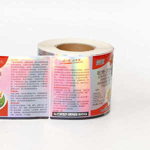 Waterproof Metallic Adhesive Sticker Labels Printed Matte Silver Foil Stickers on Roll