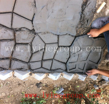 Keystone Driveway Patio Paver Concrete Molds Stone Cement Moulds Stepping  Stone Or Paver Stone Plastic Mold