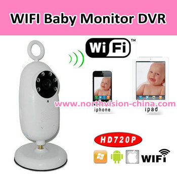 720p hd wifi baby monitor with dvr support 32gb tf card app for iphone androi. Black Bedroom Furniture Sets. Home Design Ideas