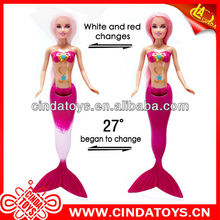 Plastic Mermaid with color change tail according Temperature change