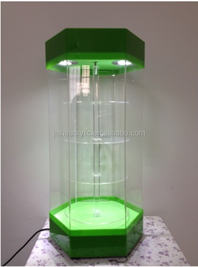 Acrylic Display Stand Rotating With Led /led Acrylic Countertop ...