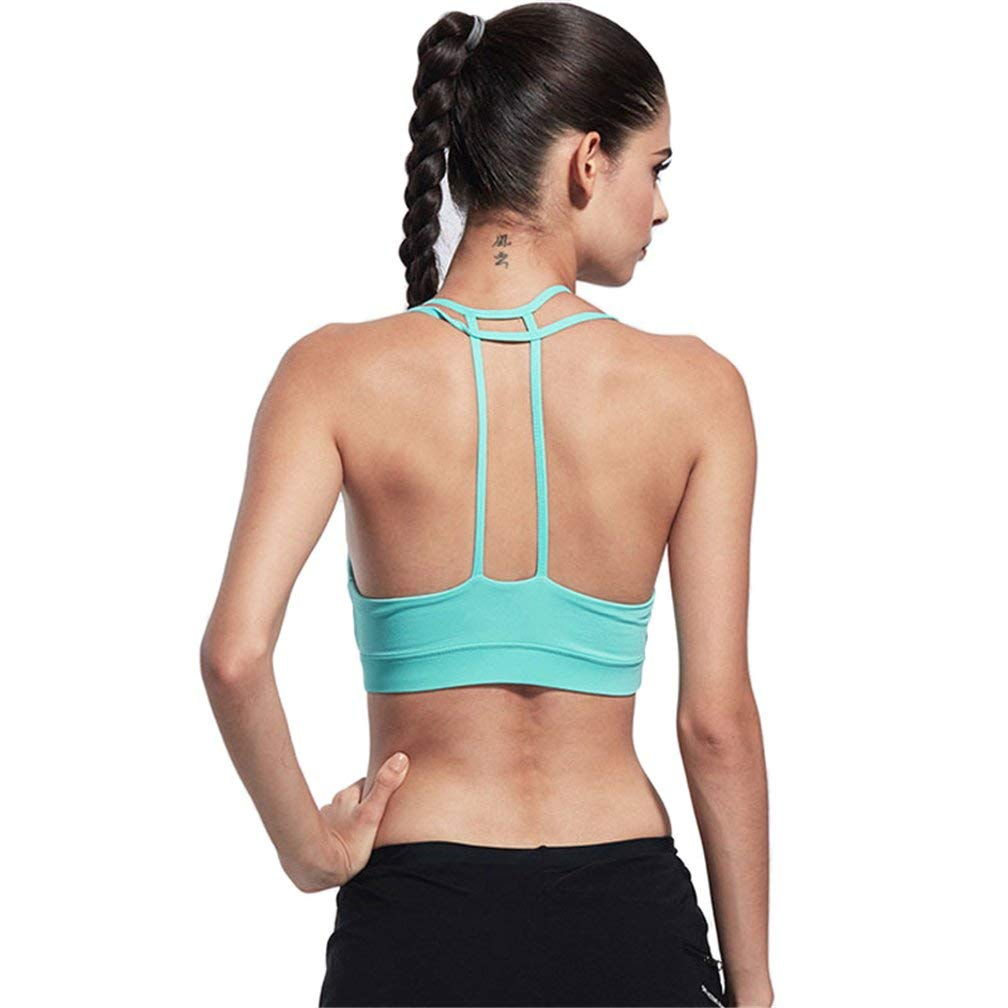 80a65bfe49 Get Quotations · DOLINXH Women s Sport Bra Full-Support Sport Comfort No  Rims Yoga Running Gym Bras