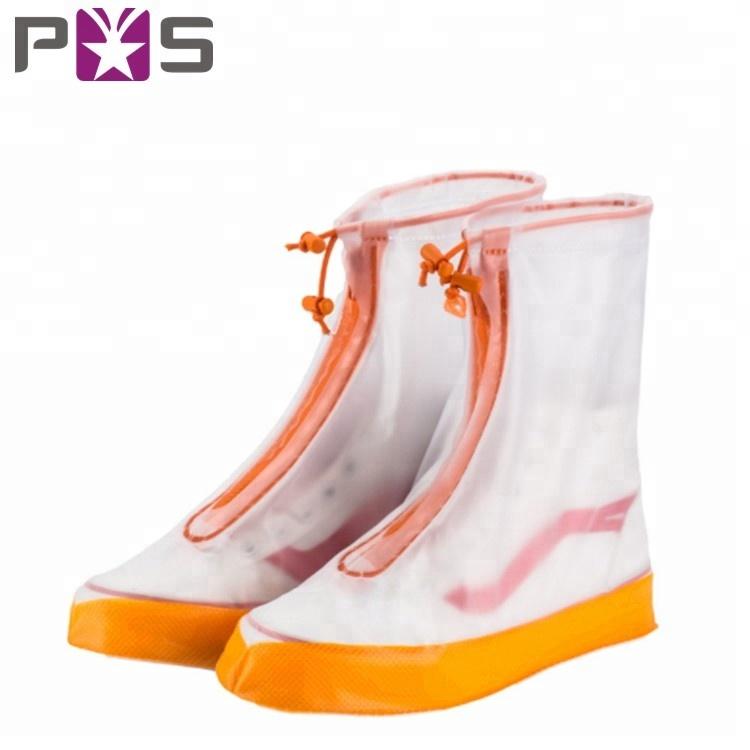 Schuhzubehör Kinder Nicht-slip Schuh Abdeckung Erwachsene Überschuhe Outdoor Rain Reusable Wasserdichte Pvc Verdicken Schuhe