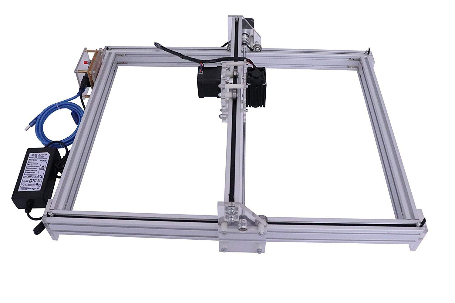 DIY CNC Laser Engraver Kits 4050 GRBL Control Wood Carving Engraving Machine (Working Area 40x50cm, 2 Axis (2500MW)