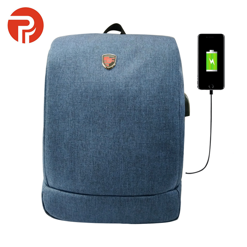 Designer Smart Anti-theft Water proof Men's Business Laptop Antitheft Back Pack Bagpack Bag with USB Charging Port Backpack