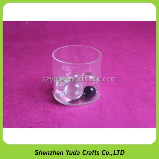 mini-diameter acrylic tubes with base acrylic round storage tube plastic rod
