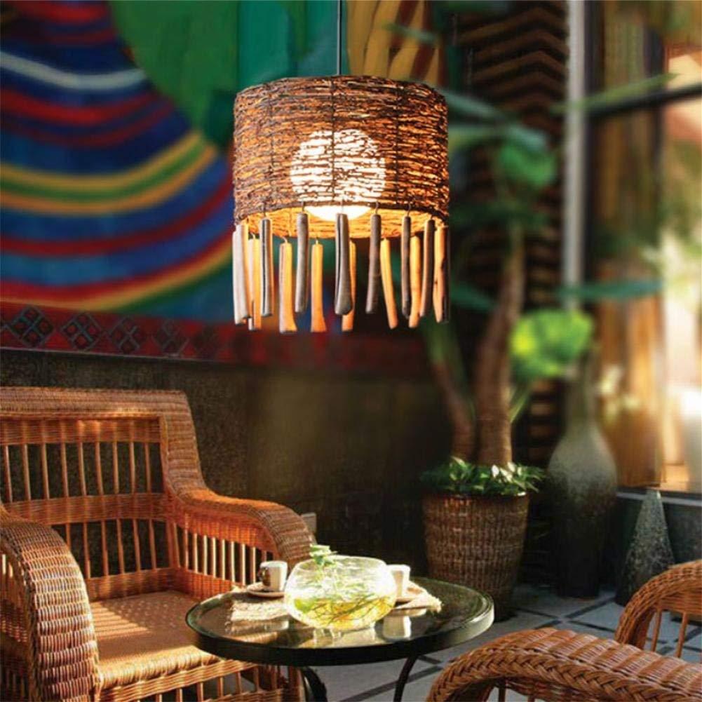 GLX Southeast Asia rattan chandeliers, chandeliers creative chandeliers, rattan Zen lamps 125CM 35CM