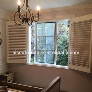 Wooden movable door shutter American style shutters make wooden shutters plantation supplier
