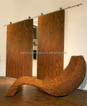 Beau Double Sliding Wood Barn Doors U0026 Interior Solid Wood Double Doors