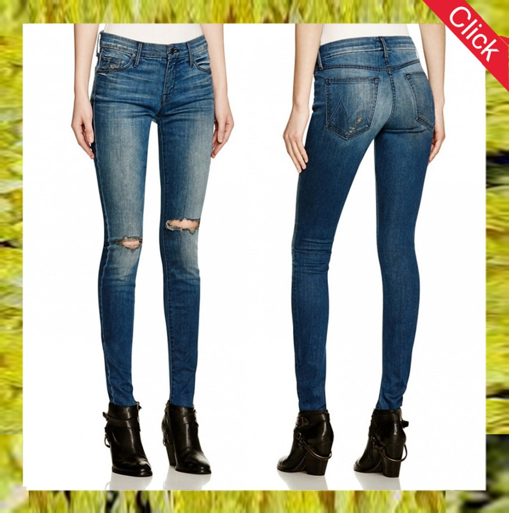 2017 newest style destroyed women distressd legging skinny jeans