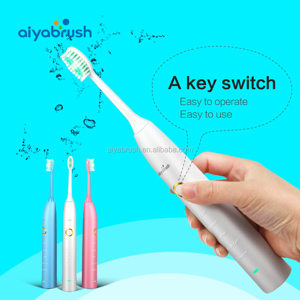 dental oral care sonic personalized electric toothbrush with 2000mAh battery powered
