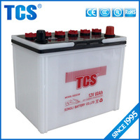12v 60ah dry charged car battery 55D23R recharge battery korean car battery