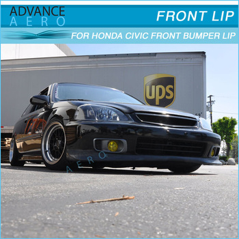 For 99-00 Honda Civic Ek Evo Style Pu Front Bumper Lip Spoiler Bodykit -  Buy For 99-00 Honda Civic Ek Front Bumper Lip,For Civic Evo Style Lip