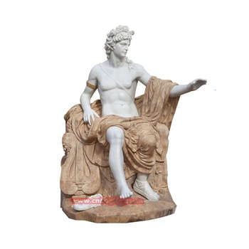 High Quality Stone Garden products marble Apollo statues