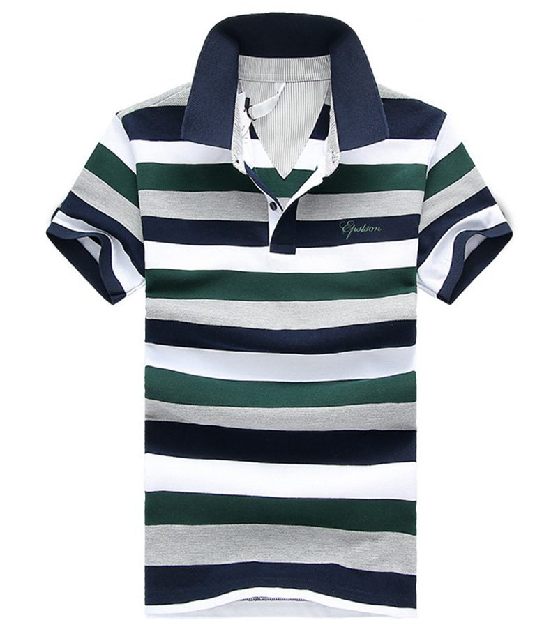 0f3c66b9a25 Get Quotations · Xiu Fashion Men Polo Shirt Brands 2015 Summer Plus Size  M-4XL Striped Lapel Polo