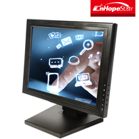 Wall mount 15 inch lcd touch screen monitor for pos