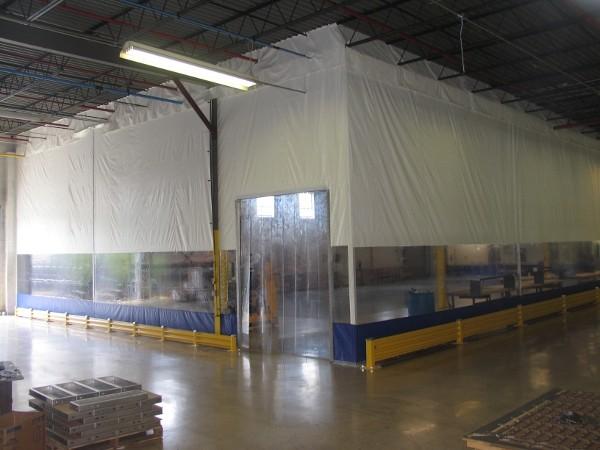 Pvc Industrial Vinyl Curtains Wall To Segment Plants