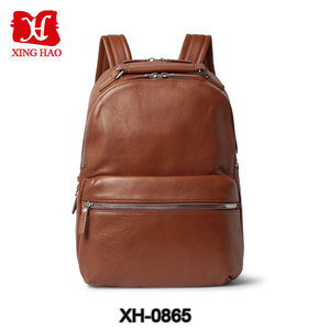 2018 fashion custom cowhide19 inch laptop backpack leather for man