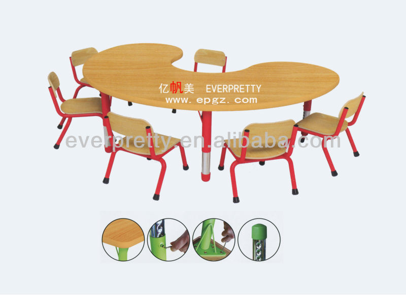 Arce Shape Kidsu0027 Studing Table With 4 Chairs For Preschool Kids,prschool  Furniture