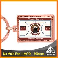 Wholesale bulk metal field printing souvenir gift basketball key ring