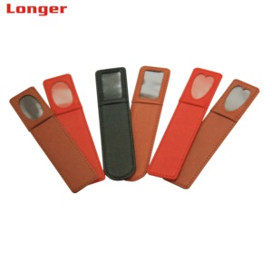 High quality promotional handmade pu leather bookmark for sale