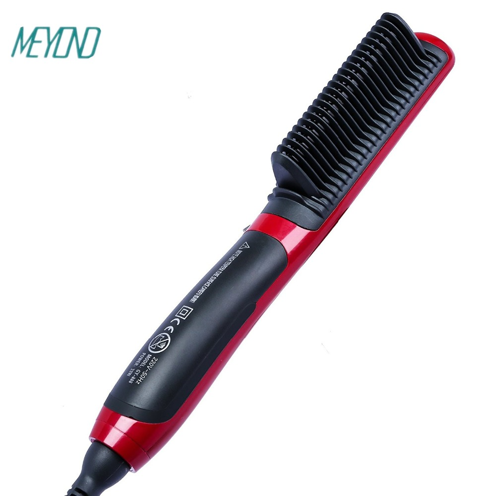 Hot sale multifunctional hair straightener and uesd by the stars on TV,brush hair made in ningbo