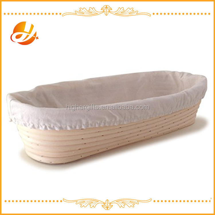 Eco-Friendly Feature and Baking Mats&Liners Baking&Pastry Tools Type oval banneton bread proofing basket with linen cover