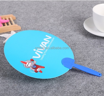personalized blank high quality plastic hand fan for advertisement