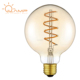 GLS Edison 4W E27 230V Candle LED filament bulb light with clear glass and gas-filled bulb and UL
