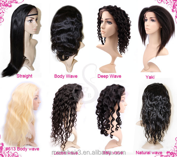 Peruvian Indian Malaysian Brazilian human hair full lace wig brazilian hair front lace wig straight human hair wigs for women