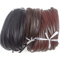 20mm flat real leather cord for pet collar chain bracelet necklace flat leather string
