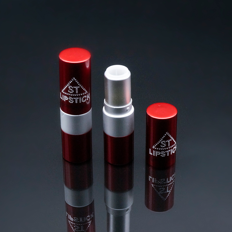 11.8 red bling round metal empty lipstick case