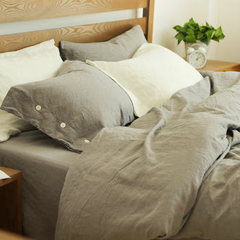Belgian Flax Linen Duvet Cover Vintage Washed Bed Sheet Set Sheets Product On