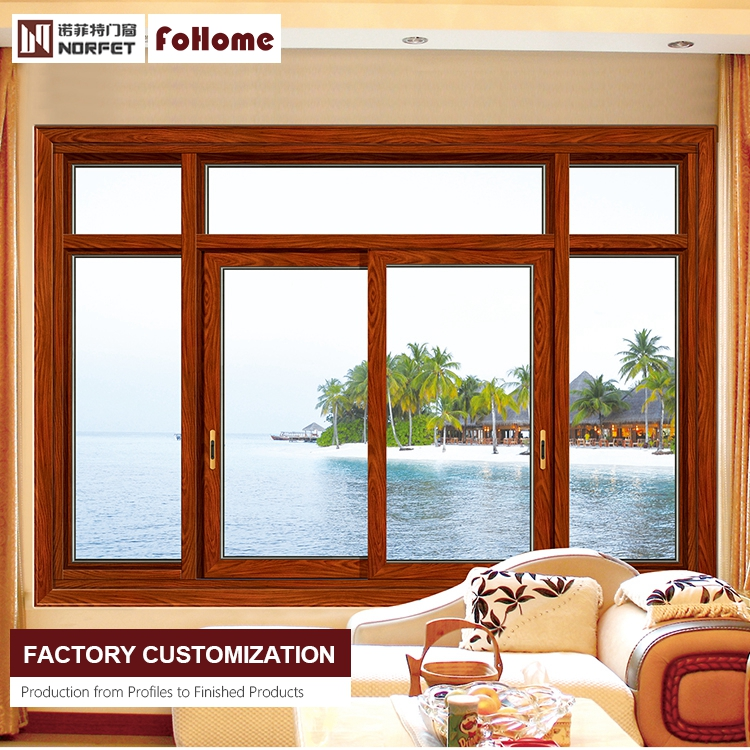 New design double glazed slide aluminium frame sliding frosted glass window with mosquito net 2/4 panels