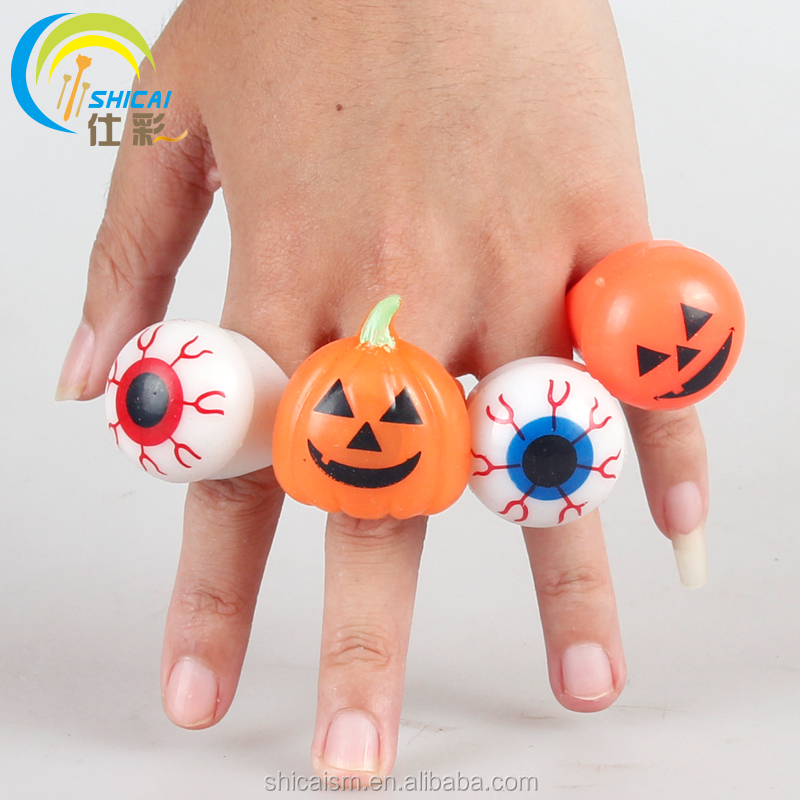 Halloween luminous rings prom party wedding dress Halloween props Christmas gifts for children flash Decoration