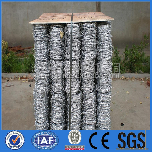 barded wire price / galvanzied barbed wire / hot dipped galvanized wire