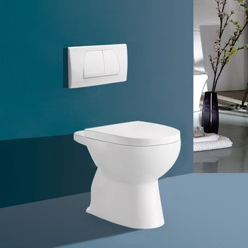 Floor Mounted Toilet Without Tank Water System Toilet