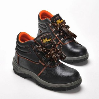 Mens Leather Work Safty Shoes