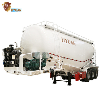 Customized 3 Axle 35-70m3 Bulk Cement Tanker Trailer