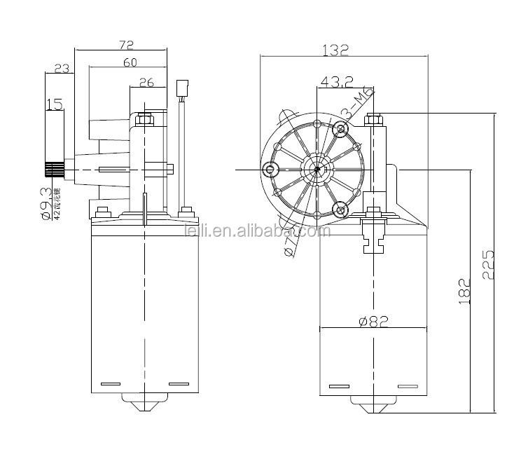 Permanent Magnet 12v Dc Power Window Motor